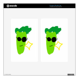 Cool Broccoli Decal For Kindle Fire