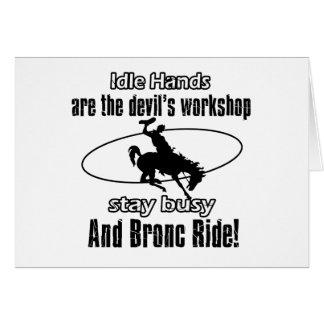 Cool Bronc Ride designs Greeting Cards