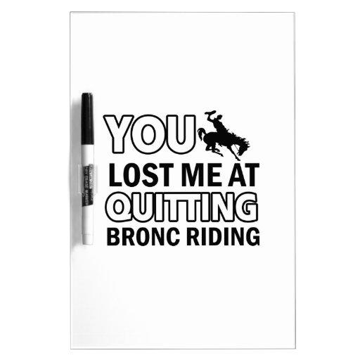 Cool bronc ride designs Dry-Erase boards