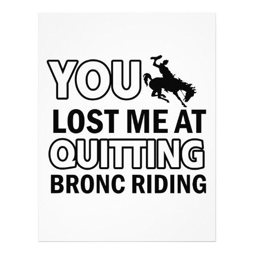 Cool bronc ride designs letterhead