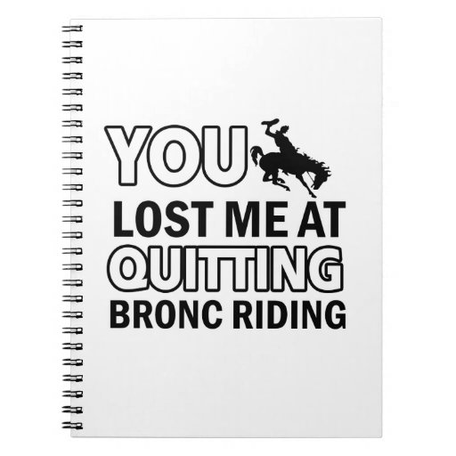 Cool bronc ride designs spiral note books