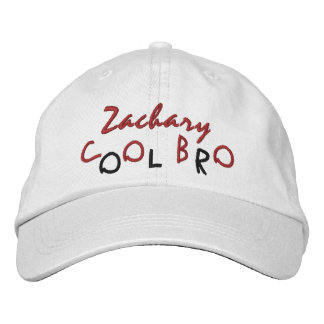 COOL BROTHER Custom Name WHITE A01 RED BLACK Embroidered Hat