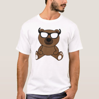 Cool brown bear with sunglasses tshirt