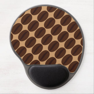 Cool Brown Coffee beans pattern Gel Mouse Pad