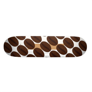 Cool Brown Coffee beans pattern Skateboard