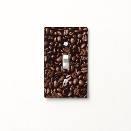 Cool Brown Delicious Coffee Beans Light Switch Cover