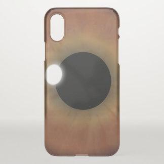 Cool Brown Eye Eyeball Weird eyePhone Clearly iPhone X Case