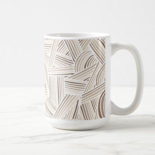 Cool Brown Fun Doodle Lines Coffee Mug