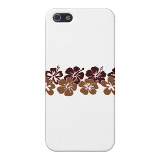 Cool brown hibiscus design cover for iPhone 5