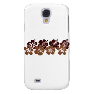 Cool brown hibiscus design galaxy s4 cover