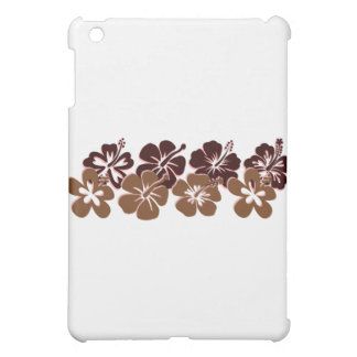 Cool brown hibiscus design iPad mini covers