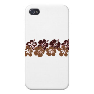 Cool brown hibiscus design iPhone 4 cover