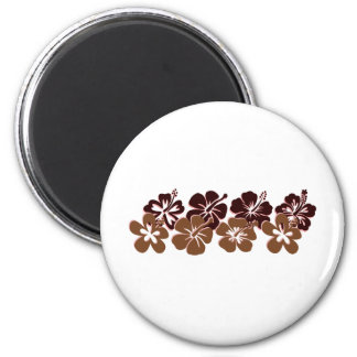 Cool brown hibiscus design magnets