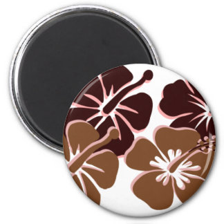 Cool brown hibiscus design refrigerator magnets