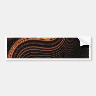 Cool brown light swirl abstract design bumper sticker