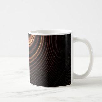 Cool brown light swirl abstract design coffee mug