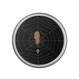 Cool Brown Spider Black with White lines Speaker