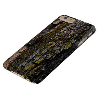 Cool Brown wood bark with yellow lichen Barely There iPhone 6 Plus Case
