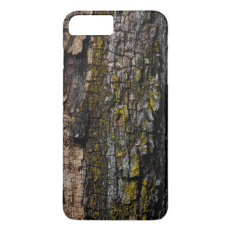 Cool Brown wood bark with yellow lichen iPhone 7 Plus Case