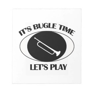 cool Bugle Musical designs Notepad
