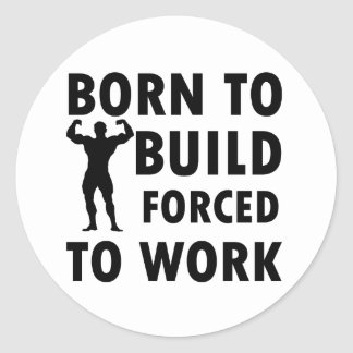Cool Build Designs Classic Round Sticker