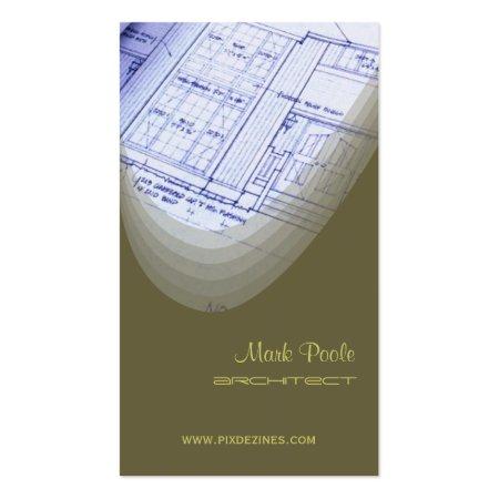 Light Olive Green or Stylish Custom Architect Business Cards