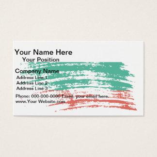 Cool Bulgarian flag design Business Card