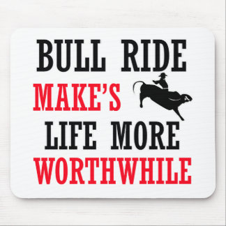 cool bull ride design mouse pad