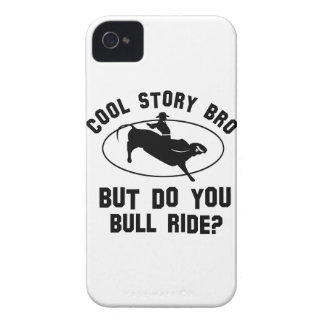 cool bull riding deigns iPhone 4 case