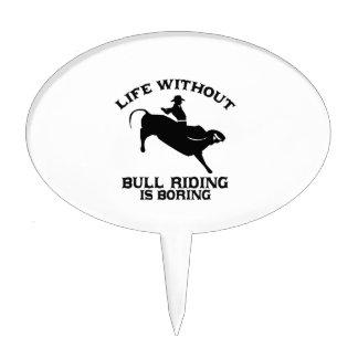 cool Bull riding DESIGNS Cake Topper