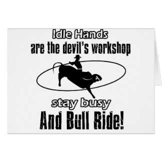 Cool bull riding designs greeting cards