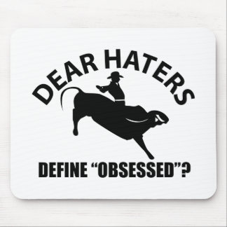 Cool Bull Riding designs Mouse Pad