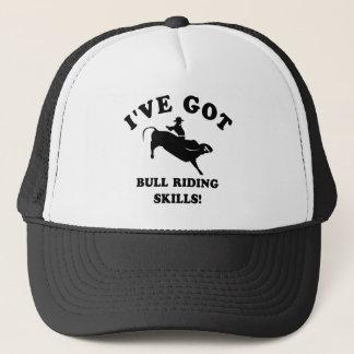 cool bull riding designs trucker hat