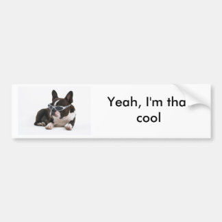Cool Bulldog Bumper Sticker - White