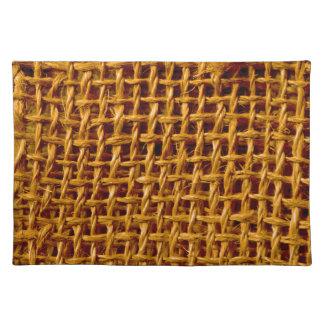 Cool Burlap Look Grunge Texture Cloth Placemat