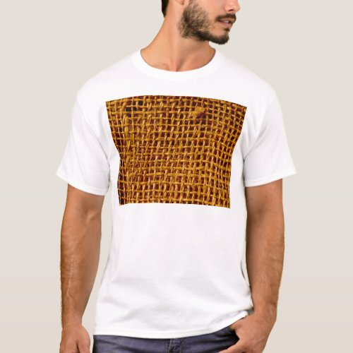 Cool Burlap Look Grunge Texture T-Shirt