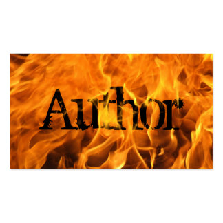 Cool Burning Fire Author Business Card