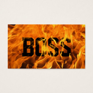 Cool Burning Fire Boss Business Card