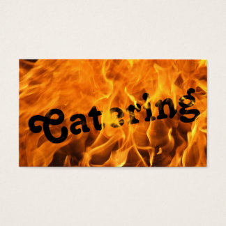 Cool Burning Fire Catering Business Card