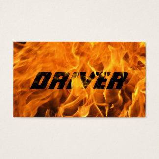 Cool Burning Fire Driver Business Card