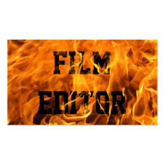Cool Burning Fire Film Editor Business Card