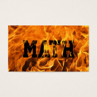 Cool Burning Fire Mathematician Business Card