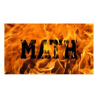 Cool Burning Fire Mathematician Business Card