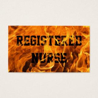 Cool Burning Fire Nurse Business Card