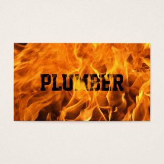 Cool Burning Fire Plumber Business Card