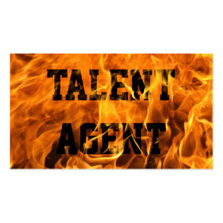 Cool Burning Fire Talent Agent Business Card