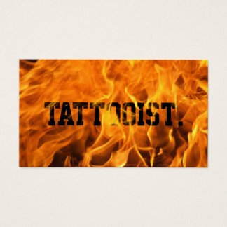 Cool Burning Fire Tattoo Art Business Card