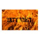 Cool Burning Fire Tattoo Art Business Card