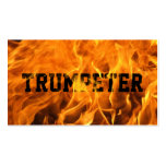 Cool Burning Fire Trumpeter Business Card