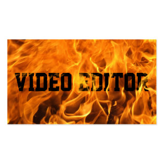 Cool Burning Fire Video Editor Business Card